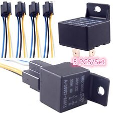 5 Pcs 4 Pin Relays for automobile used for control, alarms, horn, headlight 12V