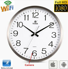 Wifi 1080P HD Spy Hidden Wall Clock Camera DVR Motion Detection Nanny Record Cam
