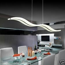 Modern LED Waved Style Pendant Light Slim Linear Ceiling Lamp Home Decor Living