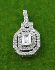 Sassi SP0852 925 Sterling Silver Pave Set Cubic Zirconia CZ Pendant & 18'' Chain