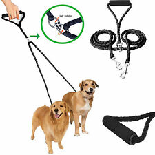 Dual Double Dog Leash No Tangle Coupler Nylon Leash for Two Large/Small Dogs