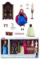 Disney Store Frozen Anna Mini Doll Wardrobe Play Set 5.5 in Dresser Olaf  NEW