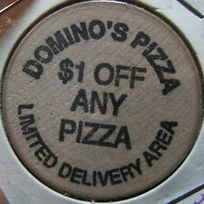 Vintage Domino's Pizza Seattle, WA Wooden Nickel Token - Washington Wash.