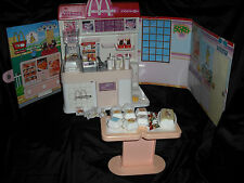 McDONALDS Vintage Play Set Takara 1990 Licca-Chan Retro Barbie Doll Toy Food