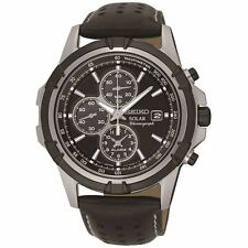 Seiko Solar Powered Chronograph Alarm Mens Watch SSC147P2