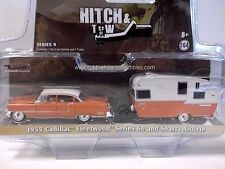 Greenlight Hitch & Tow 1955 Cadillac Fleetwood Series 60 & Shasta Airflyte