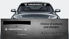 Vauxhall Sunstrip Decal and Back + smaller decal Vectra, Corsa, with NEW logo