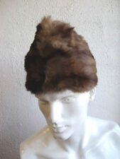 "NEW REFURBISH BOAT STYLE MUSKRAT FULL FUR HAT FOR MEN MAN SZ 22""3/4"
