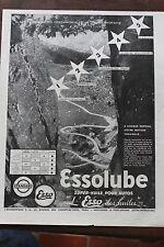 Ancienne publicité presse 1934 - HUILE POUR AUTOS ESSOLUBE ESSO