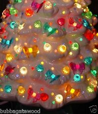 24 Bows 8 color Equal Amount Ceramic Christmas tree light bulb star topper twist