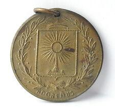 Médaille Bretagne Saint Brieuc Brioc moine breton c1920 A J Corbierre 22mm Medal