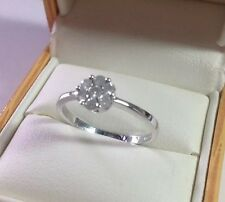 Diamond Engagement Ring 9 Carat White Gold Hallmark Diamonds 1/4 Carat
