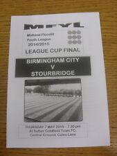 07/05/2015 MIDLAND illuminato per proiezione Youth League Cup Final: Birmingham City FITC YOUTH V