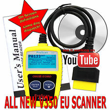 Any car OBD2 EOBD CAN Fault Code Reader Scanner diagnostic scan tool UK EU