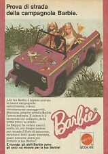 X1027 BARBIE - Campagnola - Mattel - Pubblicità 1975 - Advertising