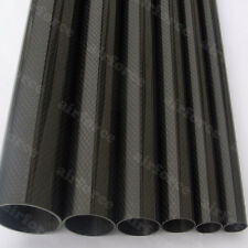1pc Roll OD12mm*ID 10mm*1000mm Glossy Surface 3K Carbon Fiber Tube Pipe US Stock