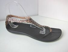 Crocs Sexi wild Flip Sandale leo schwarz  W 10 40 41  sandals thongs black gold