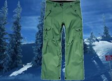 686 Mens Large 35-37 Cargo Snowboard Ski Snow Pants Waterproof Vented Nwt $235