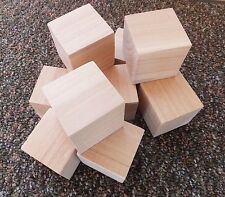 "Blocks Wooden Qty 10 - 2 x 2 x 2"" Wood Craft Block 2 in Cubes Squared Edges NEW!"