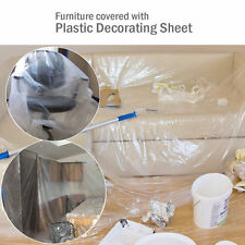Dust Sheet Clear Plastic Cover Protection Furniture Flooring Decoration Painting