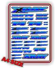 XRAY T4 STICKER SHEET 1/10 RC ELECTRIC CAR BNIP A4 SIZE TOURING DRIFT BLUE BLEND