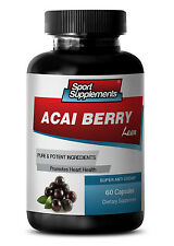 Antioxidant Power Capsules - Acai Berry Lean 550mg - Acai Detox 1B