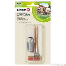 *NEW* SCHLEICH 42128 Accessories - Equestrian Horse - Stable Cleaning Set - 3 Pc