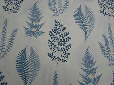 Sanderson Curtain Fabric  'Angel Ferns' Indigo 2.4 METRES (240cm) 100% Cotton