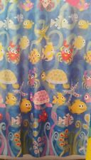 NIP ALLURE ESSENTIAL HAPPY CREATURE STAR FISH FABRIC SHOWER CURTAIN CRAB TURTLE