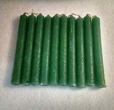 "10 Green Chime Spell Candles Mini 4"" Pagan Wicca Hoodoo Santeria Altar Ritual"