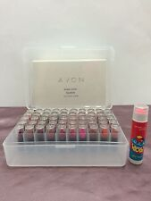 Avon Lipstick samples 50pcs in organiser case - No doubles plus FREE Lip balm