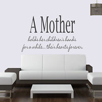 A Mother Holds Her Childrens.... Quote Vinyl Wall Art ,Sticker,Decal Any Room