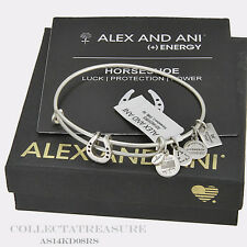 Authentic Alex and Ani Horseshoe II Rafaelian Silver Bangle