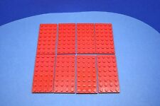 LEGO 8 x Platte 4x8 rot | red basic plate 3035 303521