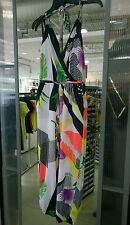 NWT BEBE PRINTED HALTER POCKET JUMPSUIT SIZE XS Playful yet SEXY!! MSRP$100