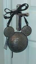 Primark Disney Mickey Minnie Mouse Womens Disco Glitter Ball Strap Handbag BNWT