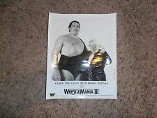 ANDRE THE GIANT WITH BOBBY HEENAN wwf PHOTO promo SHIP WORLDWIDE