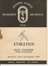 1956 Summer Olympics Program Melbourne Track & Field Four Golds RARE!!
