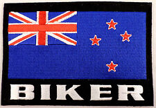New Zealand Biker Flag Xl Lg Large  Motorcycle Uniform Patch
