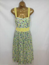 Monsoon UK 12 Donna Pretty Estate Lottie 50's TEA Stile Vestito RRP £ 95