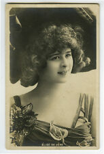 c 1904 cabaret Music Hall theater ELISE DE VERE undivided back photo postcard