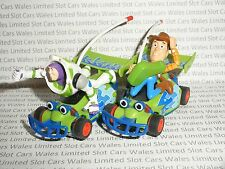 MICRO Scalextric - Pair of Toy Story Buzz and Woody Cars - Nr. Mint Cdn.
