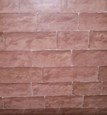 Textured Very Light Red Brick Cushion Vinyl Wallpaper by Venilia 60245 533