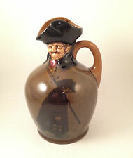 Rare Royal Doulton Kingsware GREEN VERSION NIGHT WATCHMAN  Whisky Flask