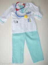 Doktor Arzt Kittel Chirurg Kinder Kostüm 104 110 116 122 + Stethoskop 5-7 J NEU
