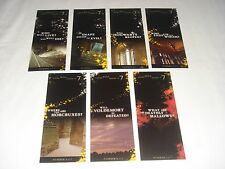 Harry Potter & Deathly Hallows - Complete Set of 7 Promo Collectors Bookmarks