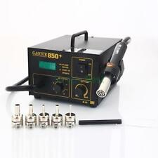 GAOYUE-850+ 110V SMD Electric Rework Soldering Station Hot Air Kit w/ 5 Nozzles