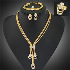 African Gold Plated Jewelry Sets New Fashion Women wedding Alloy Necklace Set