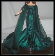OUTFIT MATTEL BARBIE DOLL EMPRESS OF EMERALDS TAFFETA GOWN CHIFFON WRAP & SHOES