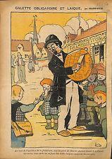 Caricature Politique Antimaçonnique Galette Laique Ecole WWI 1914 ILLUSTRATION